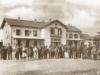 Ο παλαιός σιδηροδρομικός της Θεσσαλονίκης κατά τα χρόνια της οθωμανικής κατοχής, γύρω στα τέλη του 19ου αιώνα.