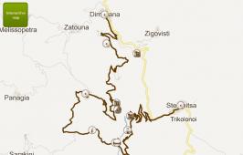Map of trekking
