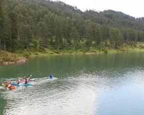 Canoe Kayak στη λίμνη Πηγών Αώου